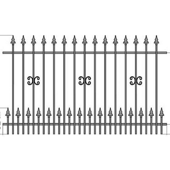 OLA 1+  kerítés köz