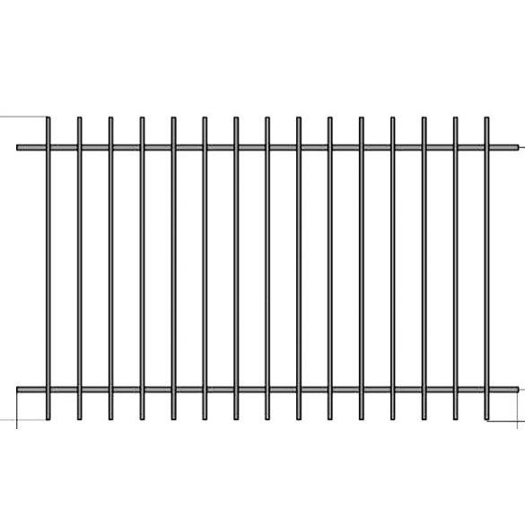 Iza 1 kerítés elem
