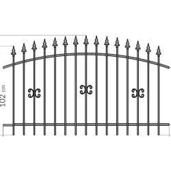 Zuzia1 kerítés elem