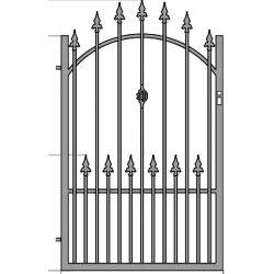 Zuzia3+  egyszárnyú kapu