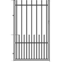 Iza1+  kerítés kapu