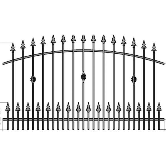 Zuzia3+ kerítés köz
