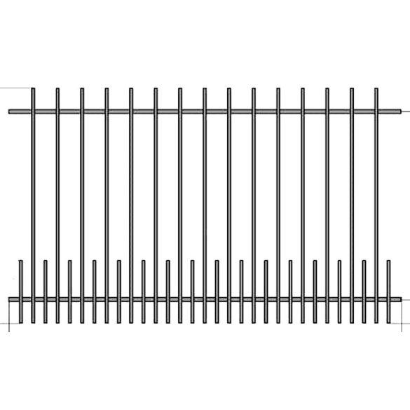 Iza 1+  kerítés betét