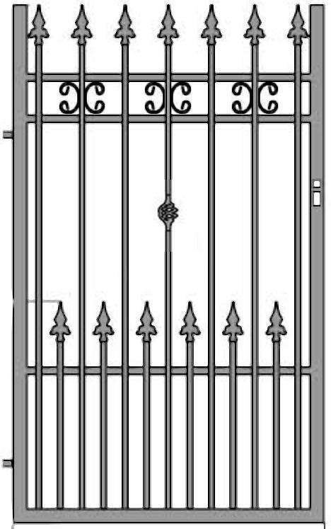 Kovácsoltvas kapu, kerítés árak, gyártás Veszprém