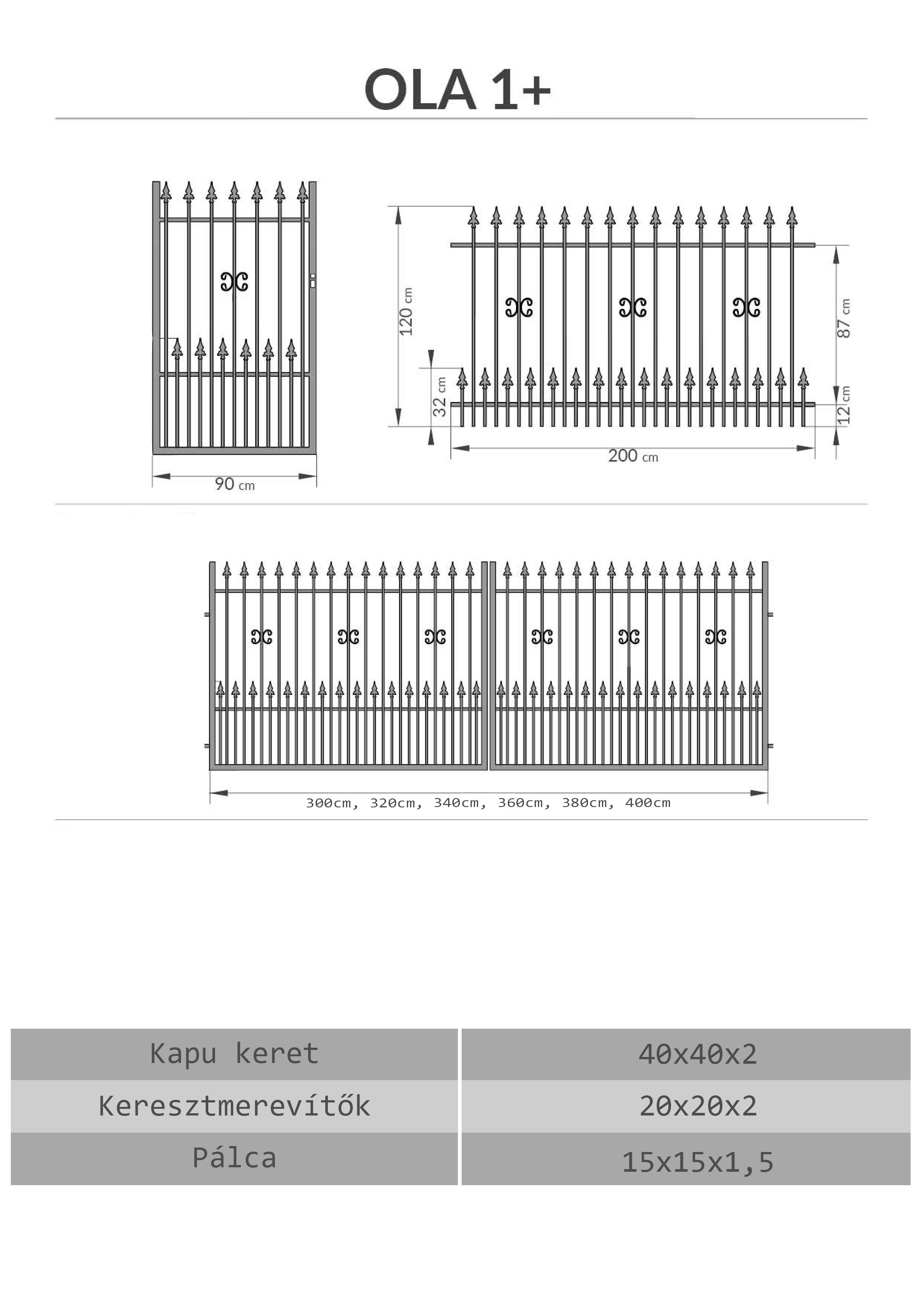Kovácsoltvas kapu, kerítés árak, Szombathely, Vas megye