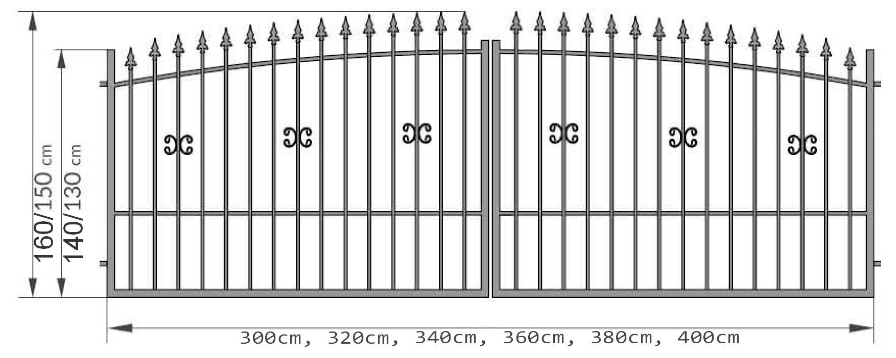 Kovácsoltvas kapu, kerítés ár, forgalmazás Pest megye, Budapest