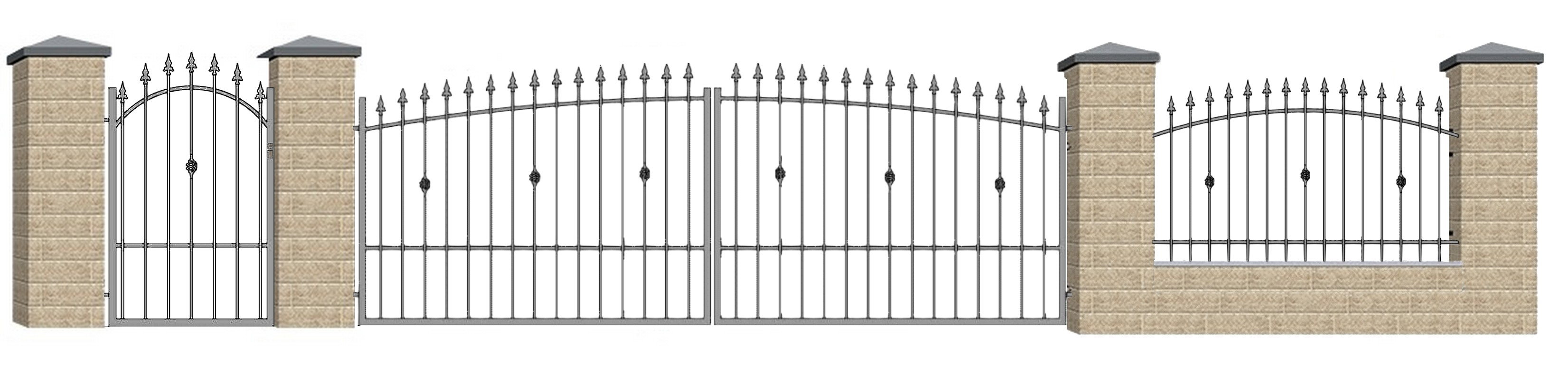 Kovácsoltvas kapu, kerítés ár, forgalmazás Fejér megye,Székesfehérvár